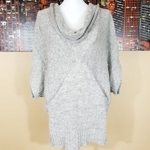Ella Moss Gray Tunic Sweater, size Medium